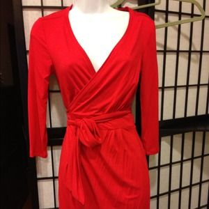 Brand new RED HOT wrap dress