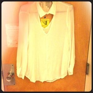 WORN ONCE white blouse!