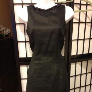 NWOT Zara black dress with jewel neckline