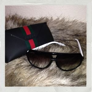 'Gucci' large aviator sunglasses