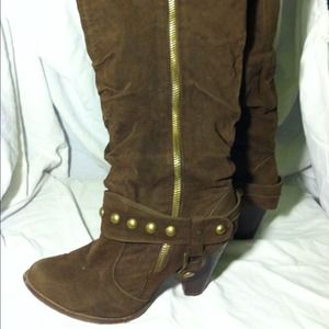 Boots - Brown knee high boots