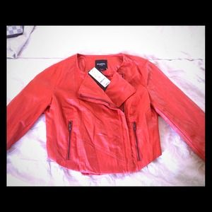 Brand new Bebe leatherette jacket..