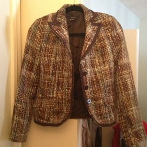 Zara basic tweed jacket