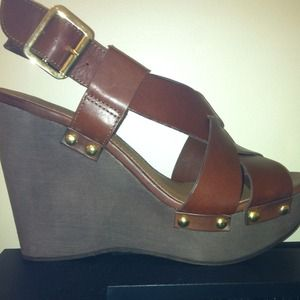 34 cathy jean shoes cathy jean brown wedge size 7