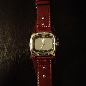 NEW men's Fossil watch with brown leather band