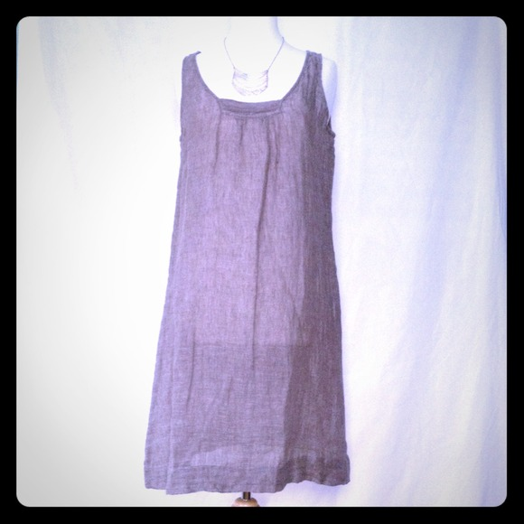 bdab09200b  REDUCED  NWT Sheer linen gauze EileenFisher dress