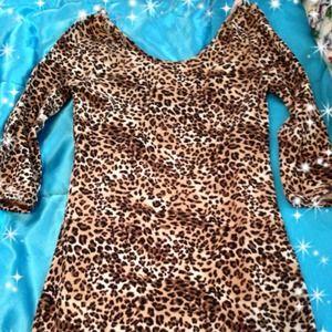 Leopard body-con dress