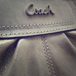 Leather Coach Wristlet/Clutch