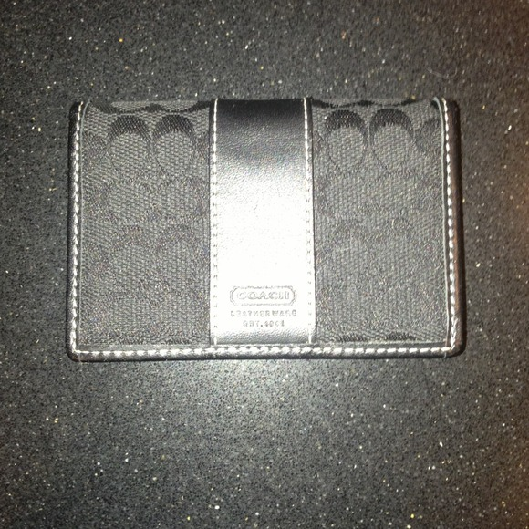 63 off coach clutches wallets auth coach credit or for Business card holder coach