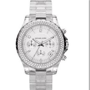 Michael Kors Clear Acrylic Glitz Watch
