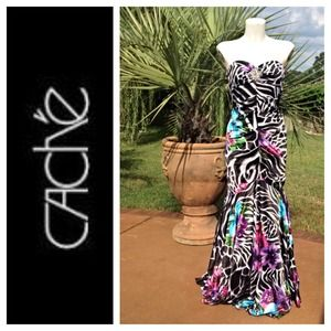 REDUCEDCache Floral zebra print gown SZ 2. NWT