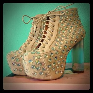 Gone❗ Jeffrey Campbell Lita Gems gradient heels