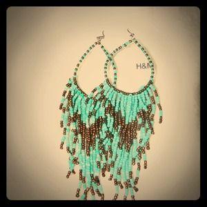 Turquoise & Bronze Drip Earrings!
