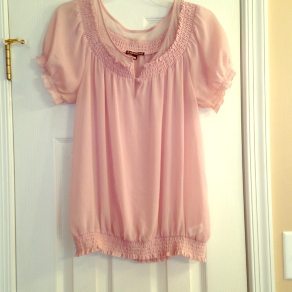 64% off Express Tops - Express Blush colored blouse from Shayna's ...