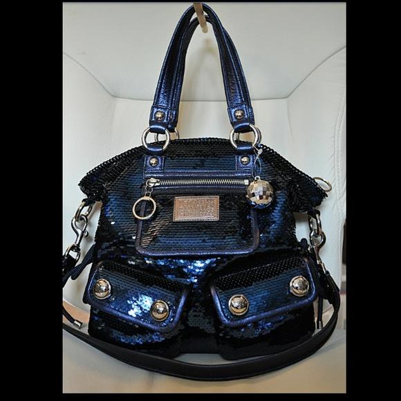 bc771749db46 Coach Poppy Sequin Spotlight in Blue!!