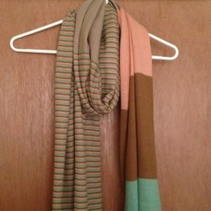 Stripe & Color-block Scarf