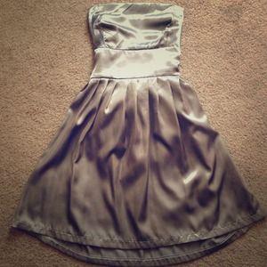 🔴SOLD🔴 Gray Satin Tube Dress