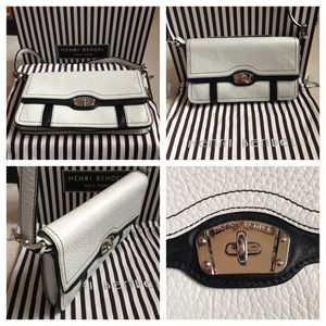 NWOTHenri Bendel black & white shoulder satchel