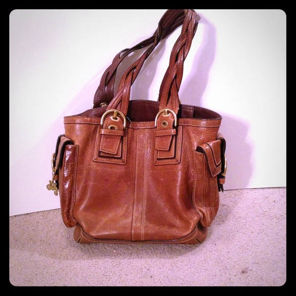 82 off coach handbags all leather coach purse from