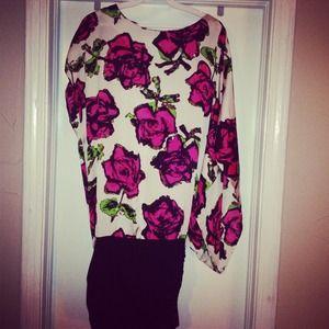 Kensie asymmetrical floral dress