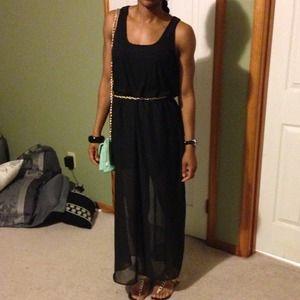 Dresses & Skirts - Black sheer keyhole dress