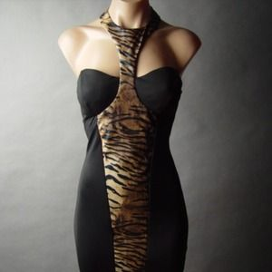Animals print body dress