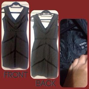 XOXO Dresses - XOXO Gray & Black Chevron Dress, Size XS-Small