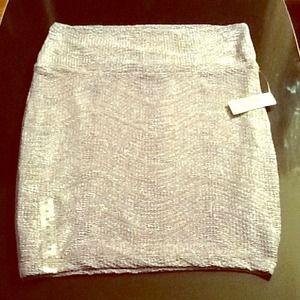 💐💐NWT Decree Lavender iridescent Mini Skirt 💐💐