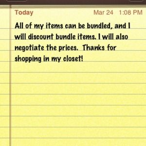 Note on my items!
