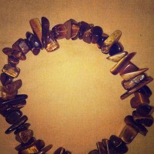 Jewelry - Brown mixed stone bracelet