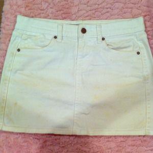Old navy white jean mini skirt
