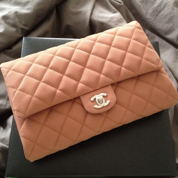 Authentic Chanel Clutch on a Chain in Light Brown a7b60b070a26b