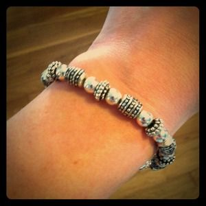 Silver and black bracelet. Love!!!
