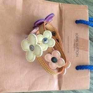 Vuitton leather flower necklace/bracelet - REDUCED