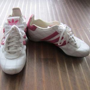 Destello Condicional personal  adidas Shoes | Adidas Goodyear Sneakers In Whitepink | Poshmark