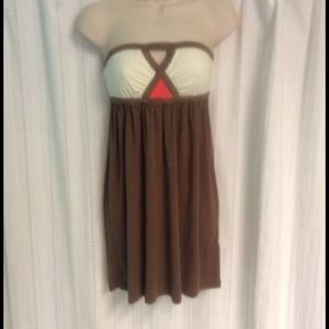 Brown/Pink Tube Dress by ALYTHEA.