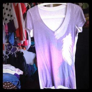Lavender V-neck