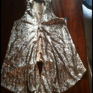 Alice + Olivia Long Sequin Vest - Size Large