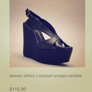 Jeffrey Campbell wedges size 7.5