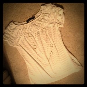 Cream Striped Limited Top