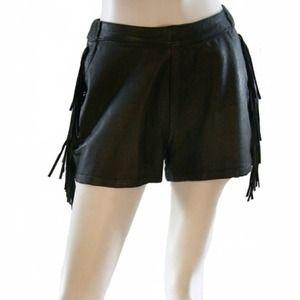 Vintage 1980's Leather Fringe Shorts