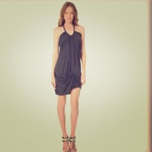 Cut25 Charcoal Draped Dress