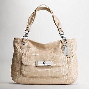 Authentic coach croc embossed purse