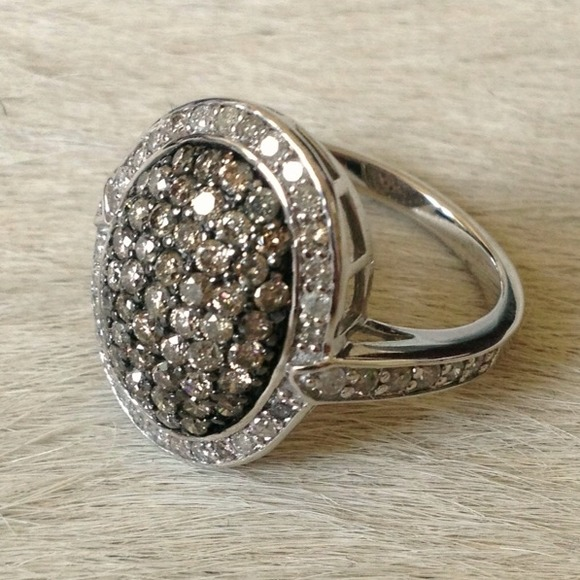 50% off Jewelry 1 5k Champagne Diamond Ring 14K White Gold from Nicole& 39