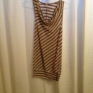 Tops - Striped cowl neck top