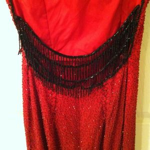 Jè Matadi By Sean Mehta Dresses Beaded Red To Black Ombr Prom
