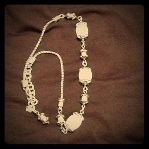 Brighton Jewelry - Brighton sterling silver necklace w/ cream stone