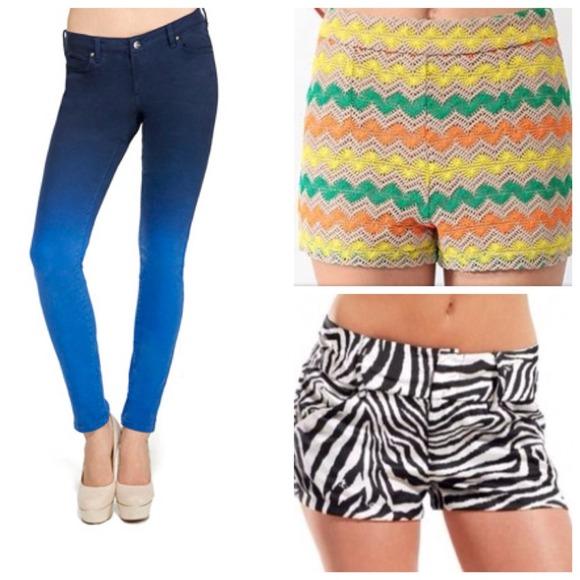 Jeans - Signature Skinny Ombre + Crochet&ZebraShorts