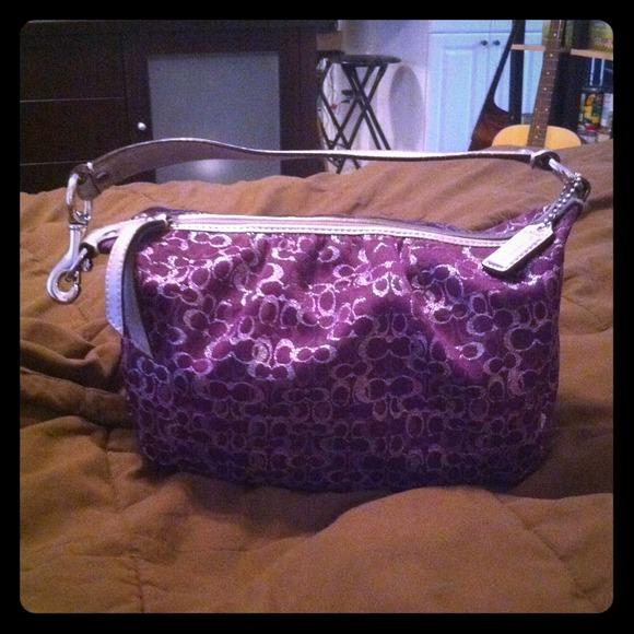 b222e420e73 Small Purple authentic Coach Purse