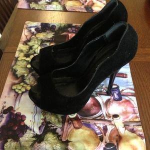 Qupid Black Stilletto Heels